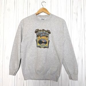 Gildan Garfield Bay Heather Gray Pullover Sweater